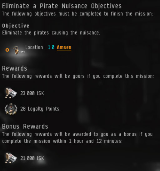 Eve pirate missions