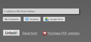 Unlock PDF files Online