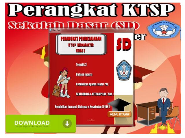 Perangkat Pembelajaran KTSP Berkarakter Kelas 3 SD/MI Format Words