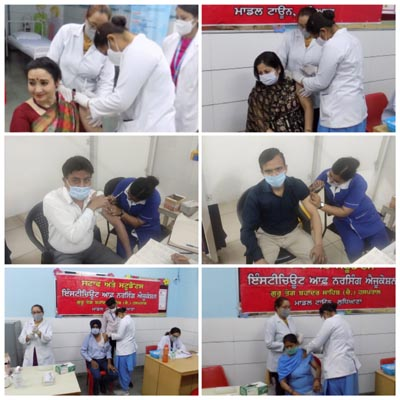 Vaccination Drive at Sat Paul Mittal School