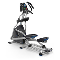 "Nautilus E618 Elliptical Trainer Machine, with 30 lb flywheel, ECB magnetic resistance, dual slide rails, 22"" stride length"