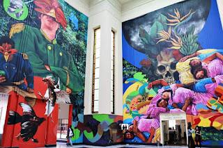 """MURAL """"Cien años de soledad"""" Biblioteca Nacional bogota"""