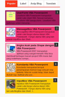 widget popular post blog