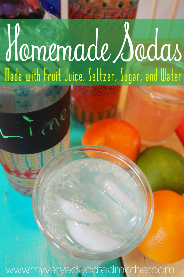 Make your own soda, it's a low sugar, more natural alternative, PLUS, it's so easy and cheap!