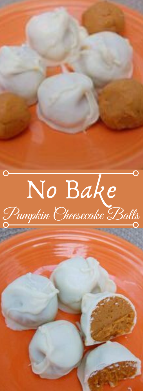 NO BAKE PUMPKIN CHEESECAKE BALLS #balls #pumpkin #easy #desserts #cheesecake