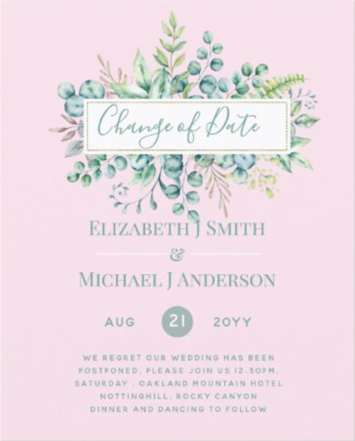 change the date invitations budget