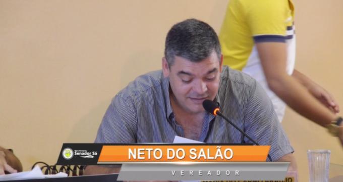 Vereador Neto do Salão foi o único de oposição a votar a favor de duas pautas importantes para a situação. Confira!