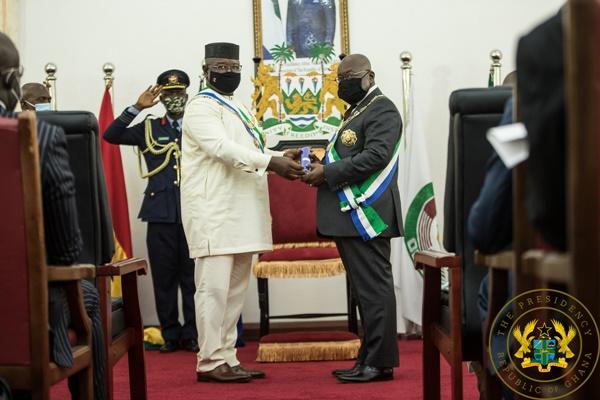 President Akufo-Addo Receives Sierra Leone's Highest National Award