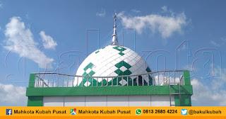 Pemasangan Kubah Masjid Enamel, Ngadirejo - Temanggung