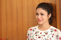 Lavanya Tripathi in Summer Style Spicy Short White Dress at her Interview  Exclusive 215.JPG