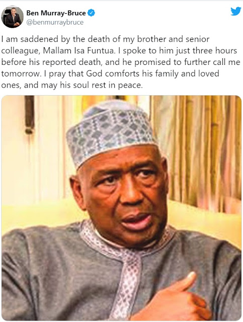 Ben Bruce: I spoke to Funtua hours before his death… he promised to call me tomorrow