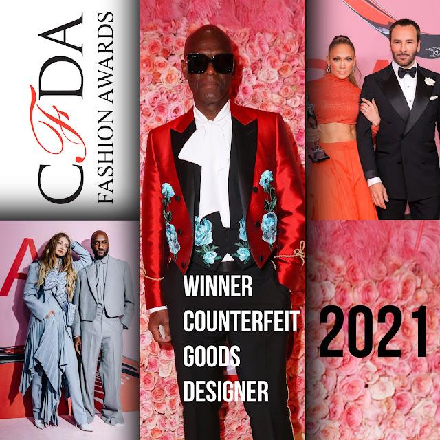 CFDA Awards 2021 - winner counterfeit goods designer Dapper Dan
