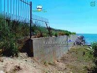 Незаконний паркан відділяючий село Ліски від Соснового Берега лески