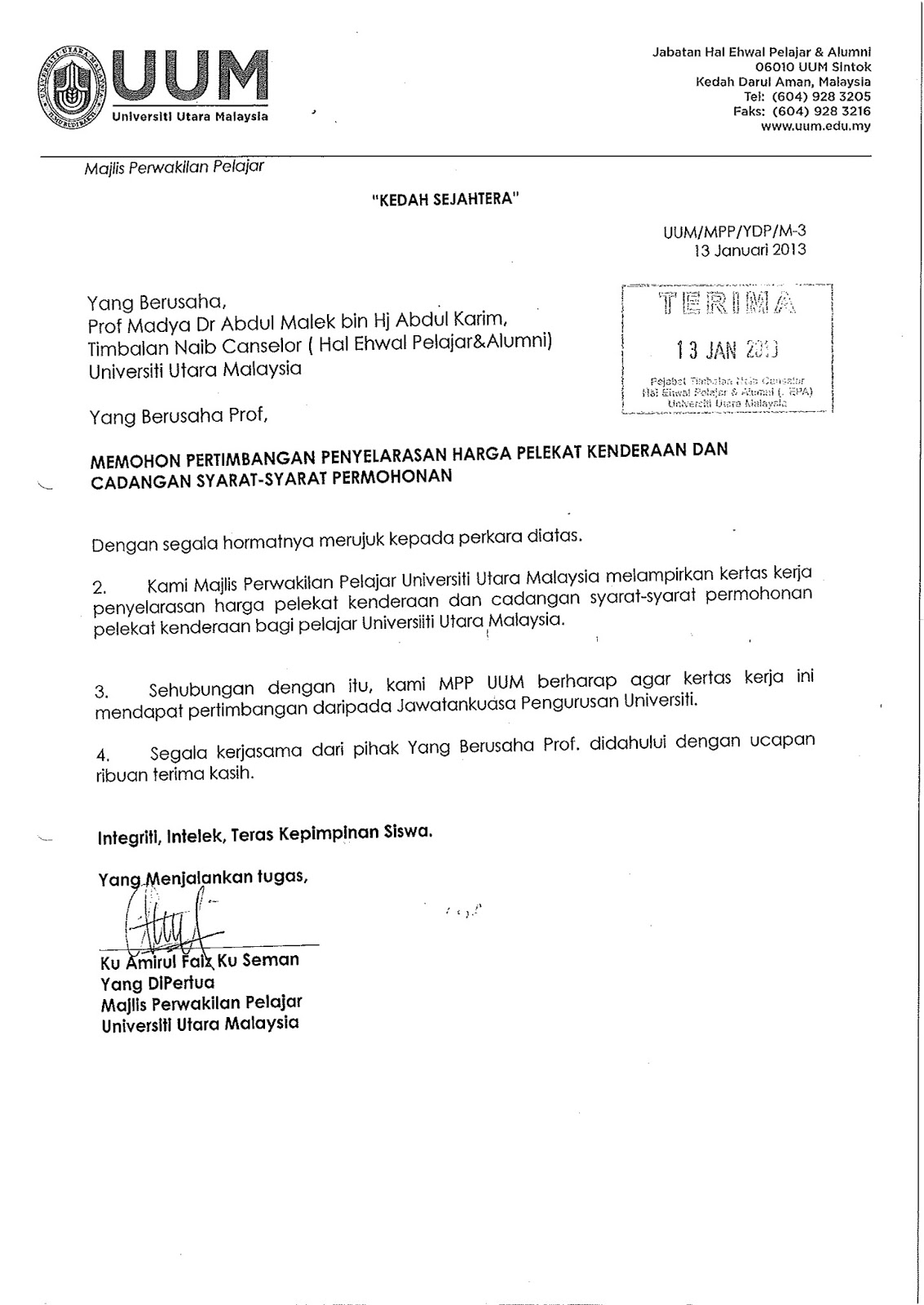 Blog Rasmi MPP UUM February 2013