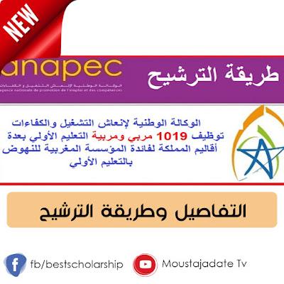 جديد !! توظيف 1019 مربي ومربية التعليم الأولي بعدة أقاليم المملكة لفائدة المؤسسة المغربية للنهوض بالتعليم الأولي