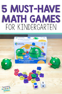 pinterest pin for 5 must have games for kindergarten teachers