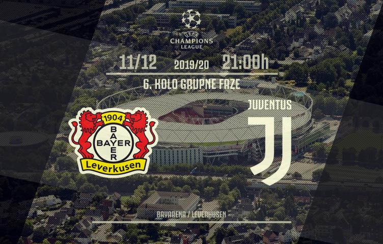 Liga prvaka 2019/20 / 6. kolo / Bayer - Juventus, srijeda, 21:00h