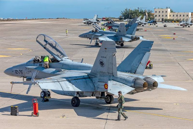 Ocean Sky 2020: Spanish, French combat aircraft train together in Canary Islands