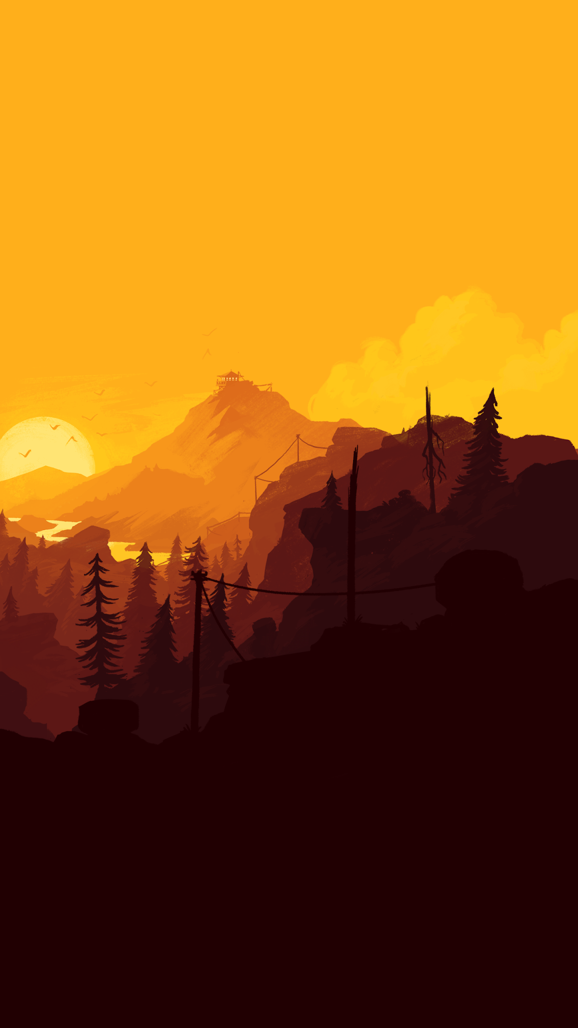 Firewatch mobile wallpaper
