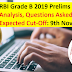 RBI Grade B 2019 Prelims Exam Analysis, Questions Asked and Expected Cut-Off: 9th November 2019