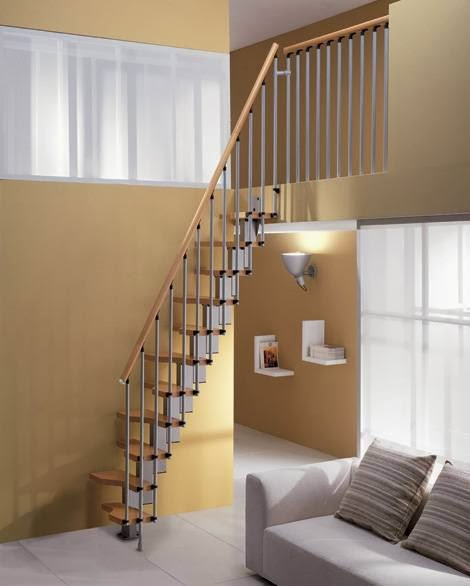 Imagem simplesmente - Stairs in a small space model ...