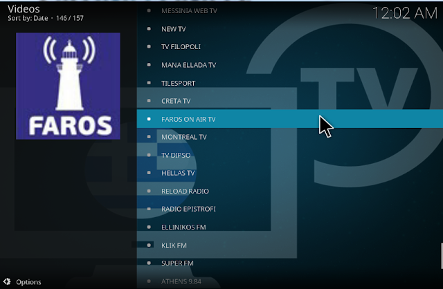 Watch Greek & Cyprus TV Live channels on greek tv kodi addon