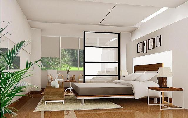 Vách ngăn phòng ngủ bằng gỗ 09