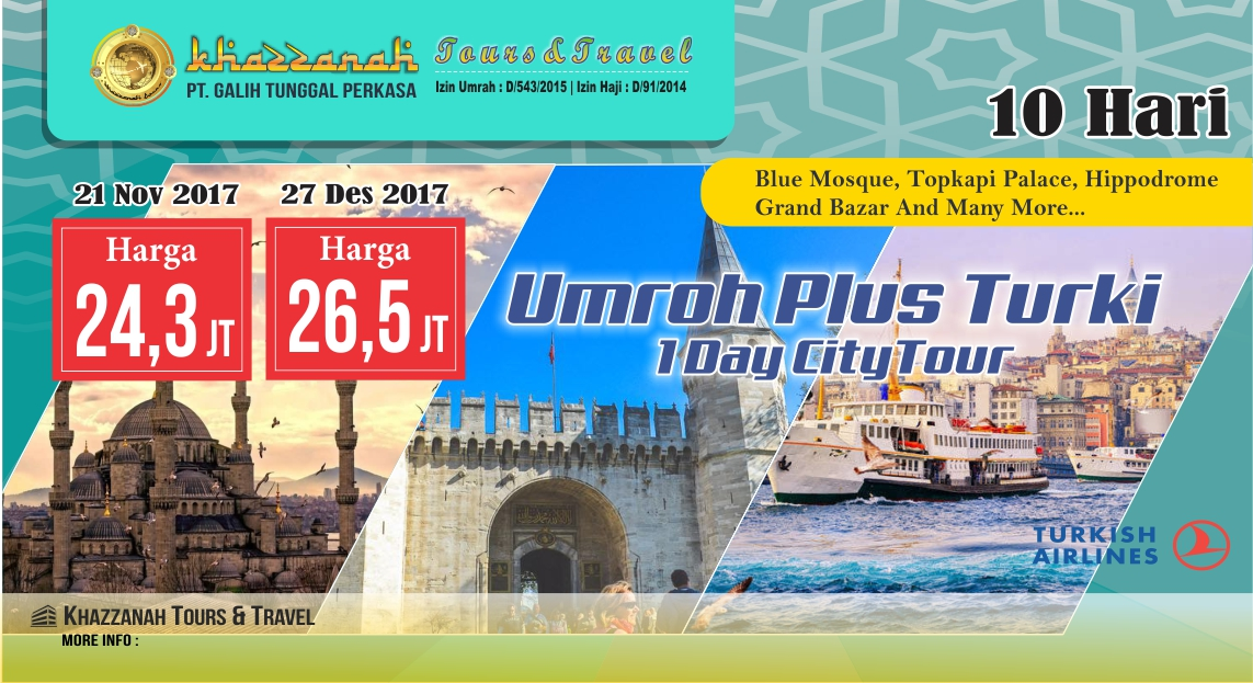 Umroh plus Turki Travel umroh Khazzanah