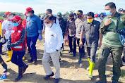 Kapolres Luwu Utara Sambut Kedatangan Ketua PMI Tinjau Pasca Banjir di Masamba