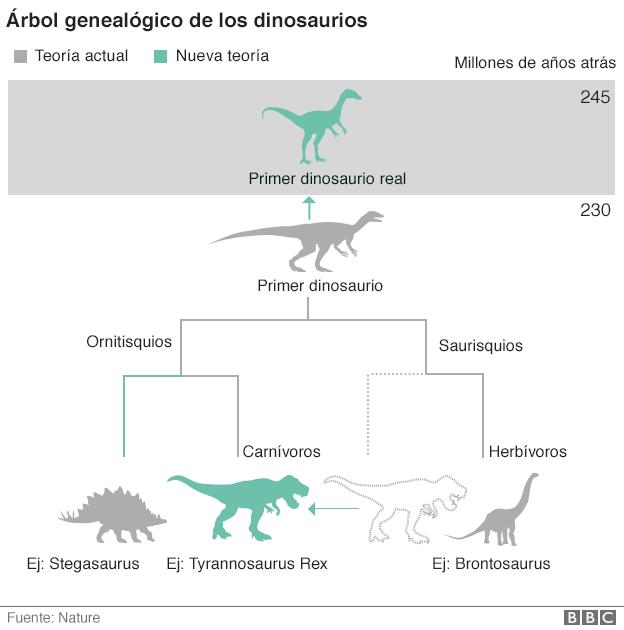 Así queda la clasificación de los dinosaurios