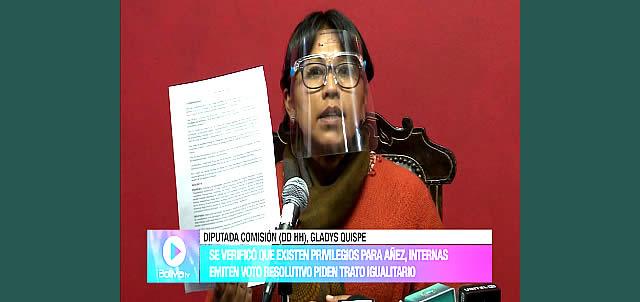Reclusas de la cárcel de Miraflores denuncian que Jeanine Áñez goza de privilegios