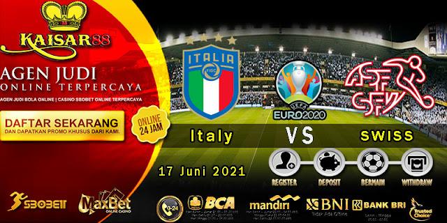 Prediksi Bola Terpercaya Laga EURO Italia Vs Swiss 17 Juni 2021