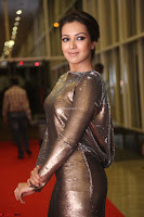 Actress Catherine Tresa in Golden Skin Tight Backless Gown at Gautam Nanda music launchi ~ Exclusive Celebrities Galleries 051.JPG