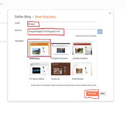buat blog dengan mudah di blogger
