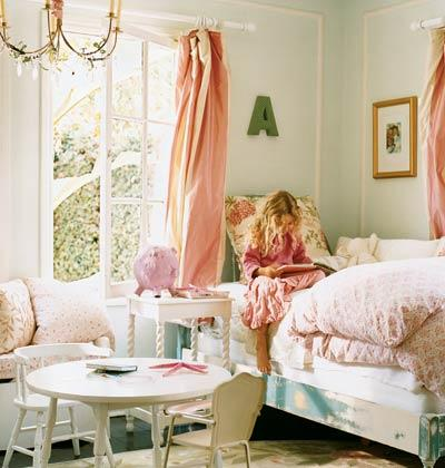 "The Letter ""A"" Above The Bed Personalizes The Room Pink Ranges"