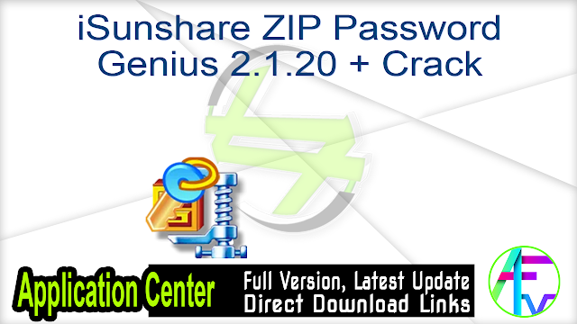 iSunshare ZIP Password Genius 2.1.20 + Crack
