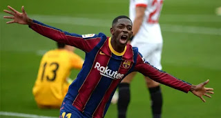 Barcelona players rating in Sevilla win with Dembele 8.5, Lenglet 7.5
