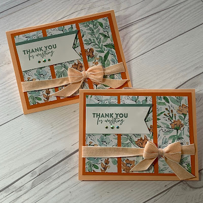 Stampin' Up! thank you cards using Flowers of Friendship Stamp Set