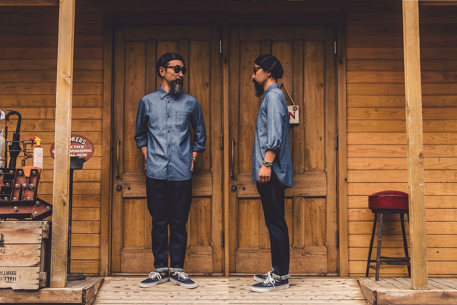 GRMO Men Button Up Slim Pocket Work Long Sleeve Shirts