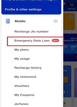 jio data loan kaise le