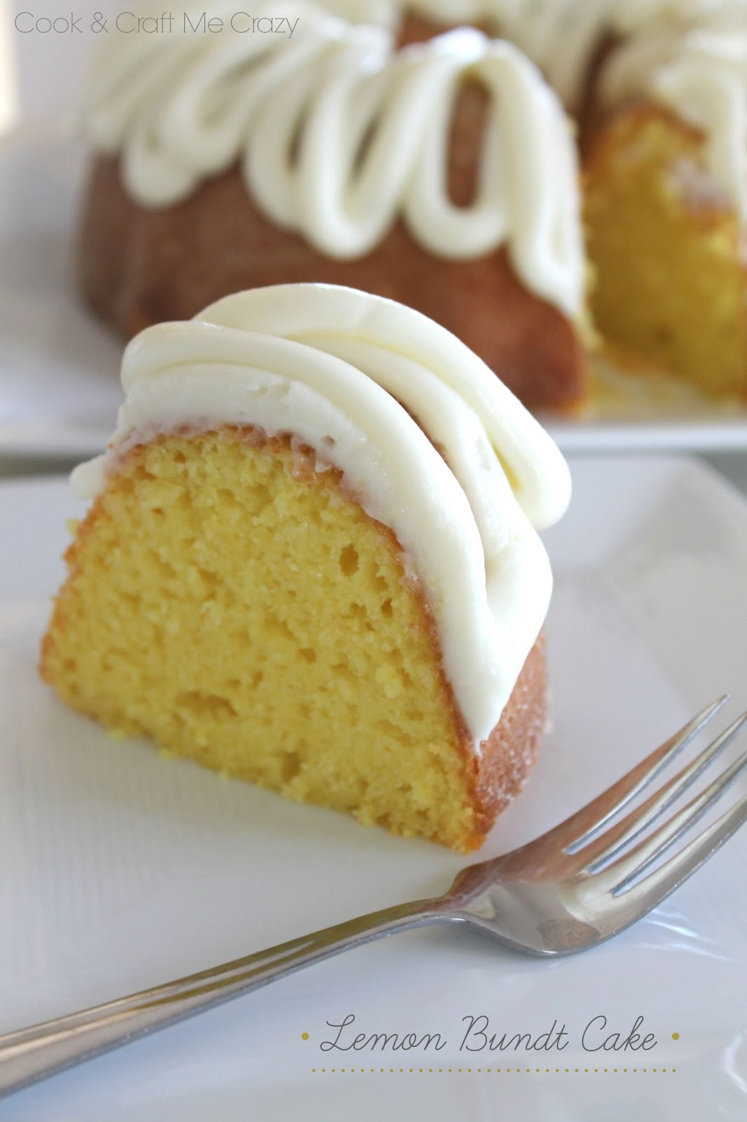 Lemon Bundt Cake With Cream Cheese Frosting