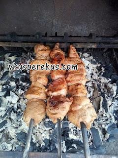 Шашлык из индейки/курицы в соево-лимонном маринаде