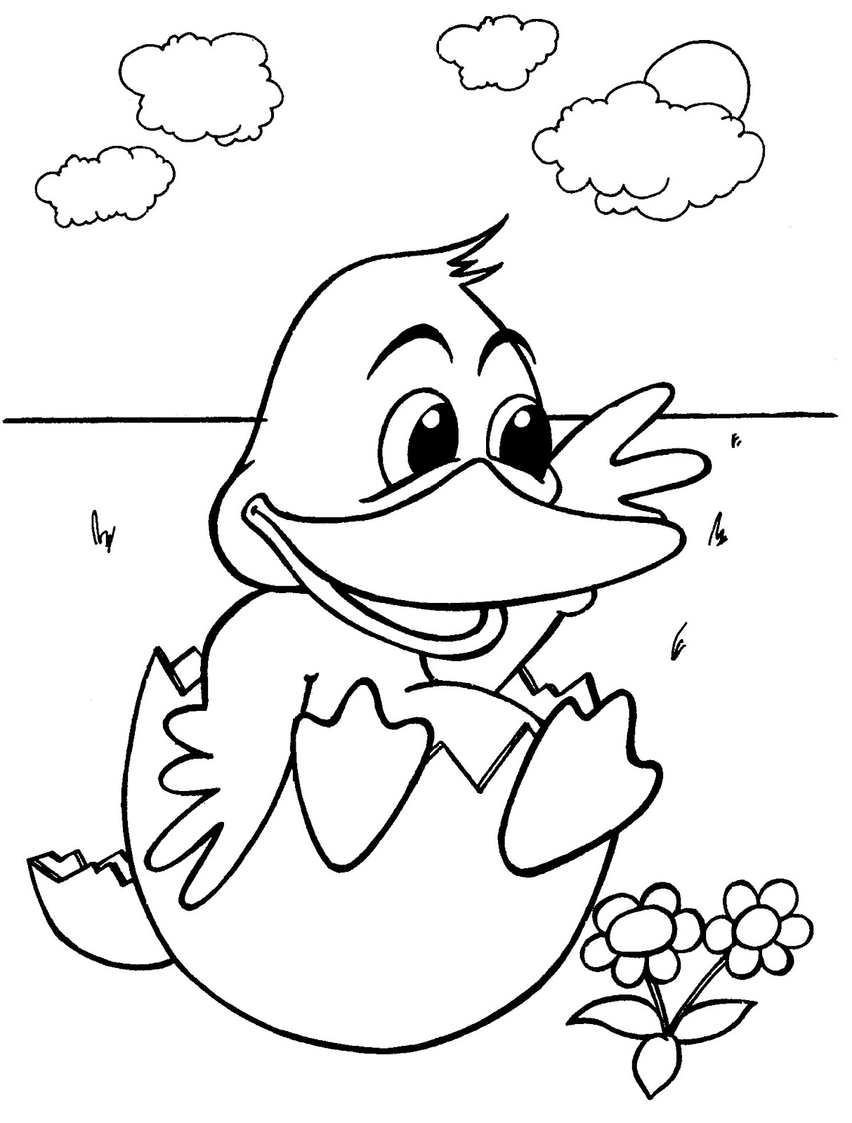 Baby Ducks Coloring Pages Pictures