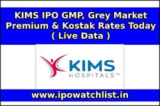 KIMS IPO GMP (Grey Market Premium)
