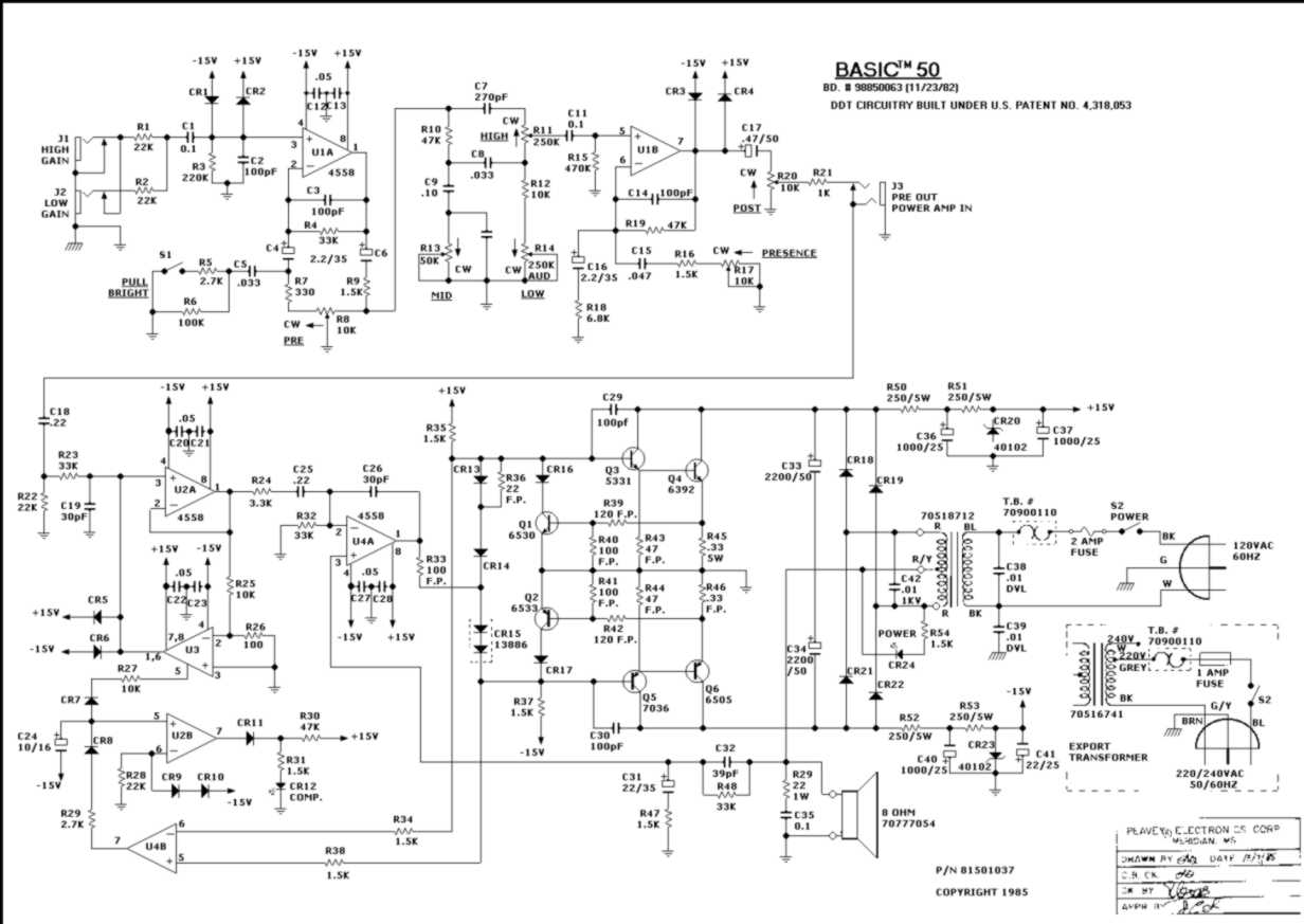 Rangkaian Circuit Schematic Power Amplifier 1000 Watt Schematics Skema Gitar Peavy Delta Share Motor Controller Class D
