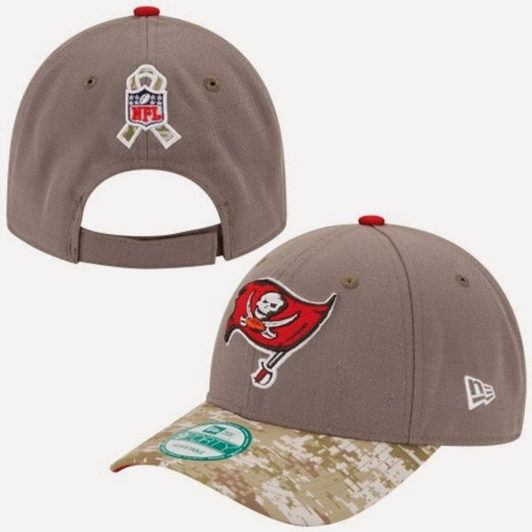 22eaa27283a New Era Tampa Bay Buccaneers NFL Salute to Service 9FORTY Adjustable Hat