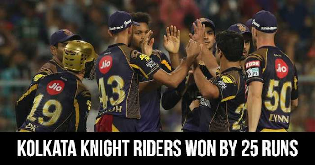 Kolkata Knight Riders won by 25 runs