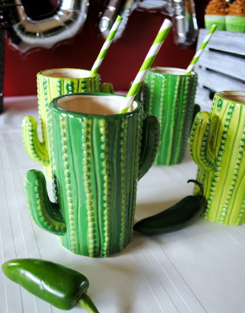 Taco - Bar- Party - inspiration - cactus - glasses
