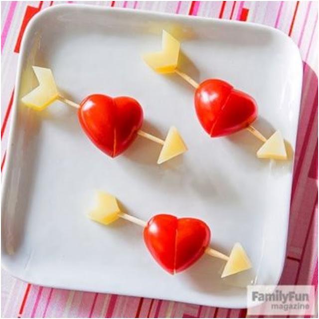 kalp şeklinde domates yapımı