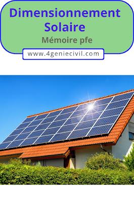 dimensionnement solaire pdf - Mémoire pfe